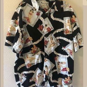 Pin Up Girls Floral Hawaiian Shirt Robert Stock